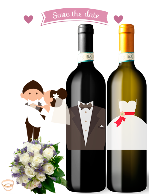 Bottiglie vino bomboniera matrimonio