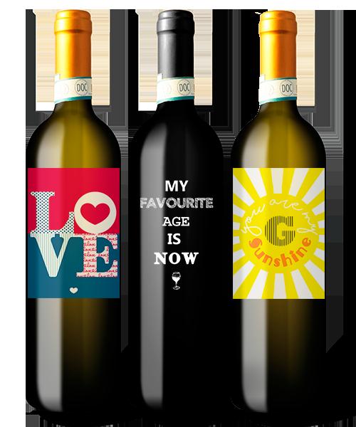 bottiglia vino personalizzata